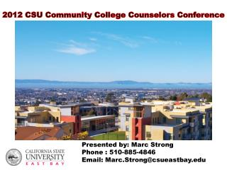 2012 CSU Community College Counselors Conference