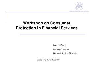 Martin Barto Deputy Governor National Bank of Slovakia