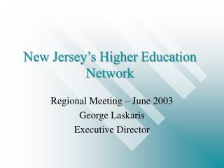 New Jersey's Higher Education Network