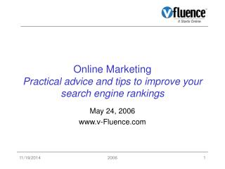 Online Marketing Practical advice and tips to improve your search engine rankings