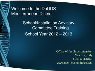 Welcome to the DoDDS Mediterranean District