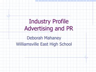 Industry Profile  Advertising and PR