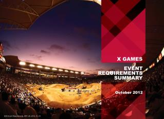 EVENT REQUIREMENTS SUMMARY            October 2012