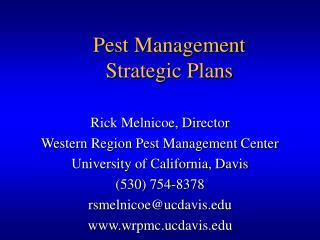 Pest Management Strategic Plans