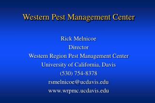 Western Pest Management Center