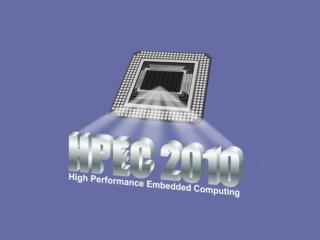 HPEC 2010 Acknowledgments