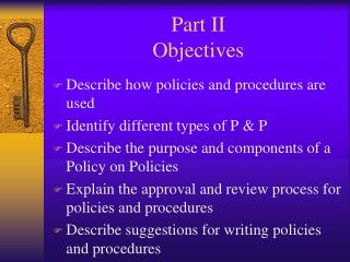 Part II Objectives