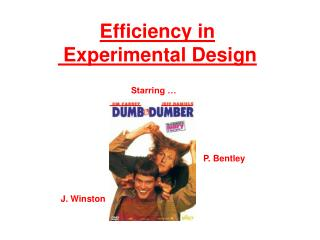 Efficiency in  Experimental Design