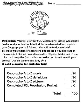 Geography A to Z Project
