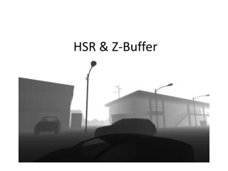 HSR & Z-Buffer