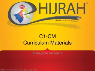 C1-CM Curriculum Materials