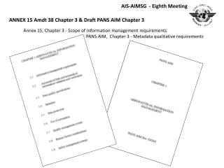 Annex 15, Chapter 3 - Scope  of information management  requirements