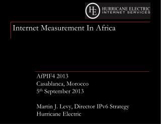Internet Measurement In Africa