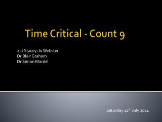 Time Critical - Count 9