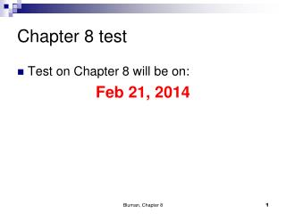 Chapter 8 test