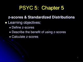 PSYC 5:  Chapter 5