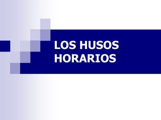 LOS HUSOS HORARIOS