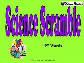 """""""P"""" Words"""