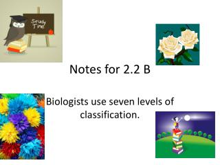 Notes for 2.2 B