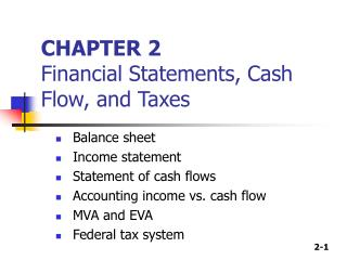 CHAPTER 2 Financial Statements, Cash Flow, and Taxes