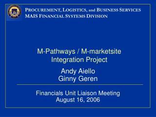 M-Pathways / M-marketsite Integration Project