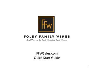 FFWSales Quick Start Guide
