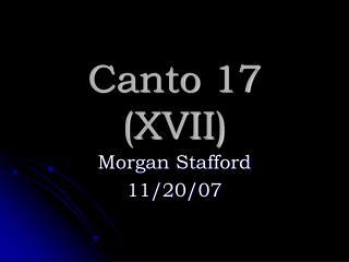 Canto 17 (XVII)