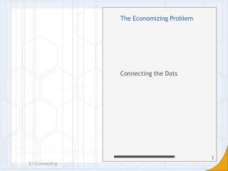 The Economizing Problem