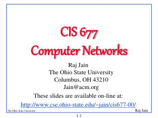 CIS 677 Computer Networks