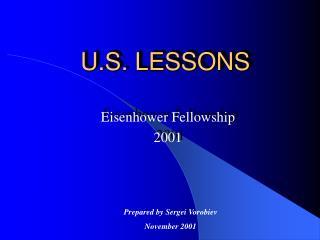 U.S. LESSONS