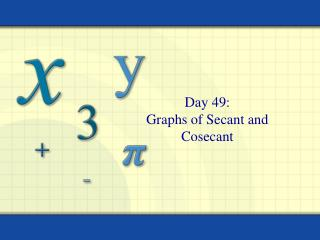 Day 49: Graphs of Secant and Cosecant
