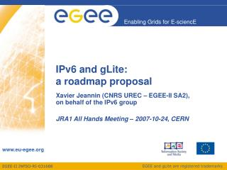 IPv6 and gLite:  a roadmap proposal