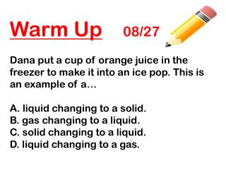 Warm Up 08/27