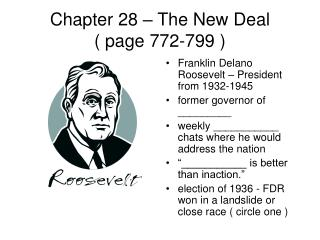 Chapter 28 – The New Deal ( page 772-799 )