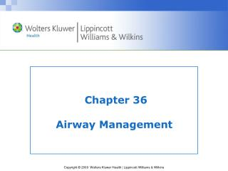 Chapter 36 Airway Management