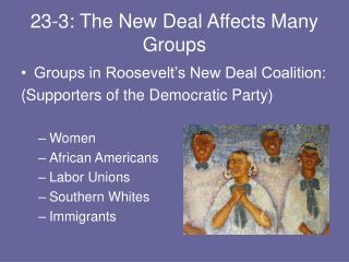 23-3: The New Deal Affects Many Groups