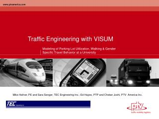 Traffic Engineering with VISUM
