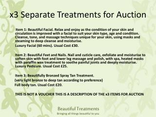 x3 Separate Treatments for Auction