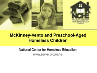 McKinney-Vento and Preschool Aged Homeless Children