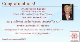 Dr. Beverlea Tallant Former Faculty  Member School of Physical & Occupational Therapy