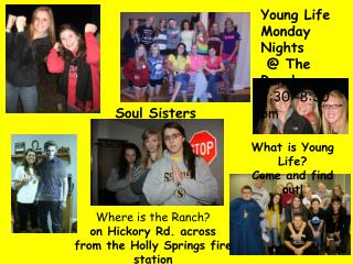 Young Life Monday Nights  @ The Ranch 7:30 -8:30 pm