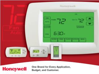 Why Honeywell? No 1 Choice of home owners Easy to use Built to last