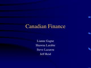 Canadian Finance
