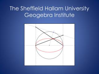 The Sheffield Hallam University Geogebra Institute