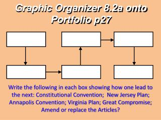 Graphic Organizer  8.2a onto Portfolio  p27