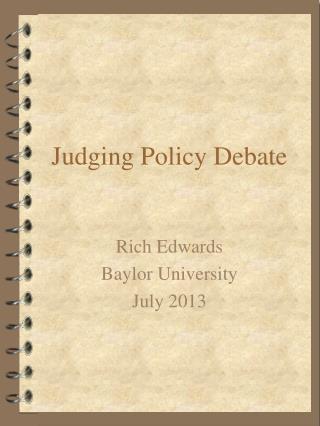 Judging Policy Debate