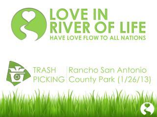 Rancho San Antonio  County Park (1/26/13)
