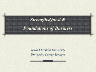 Texas Christian University University Career Services