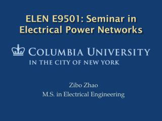 Zibo Zhao M.S. in Electrical Engineering