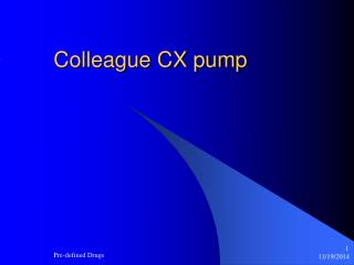 Colleague CX pump